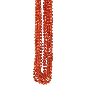 Orange Mardi Gras Beads