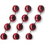 Red Mardi Gras Beads