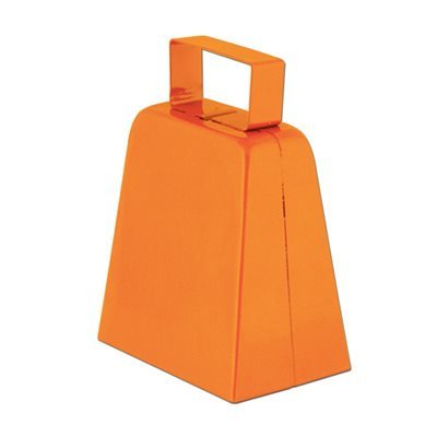 CLOCHETTE DE VACHE ORANGE 4""
