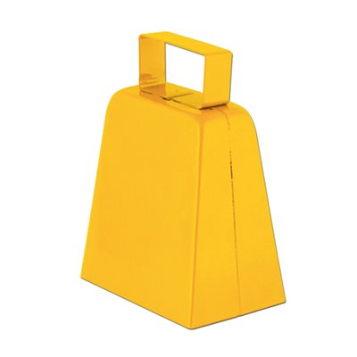 "4"" Yellow Cowbell"