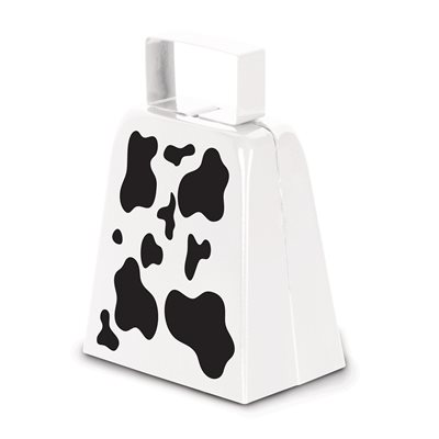 "4"" Cow Print Cowbell"