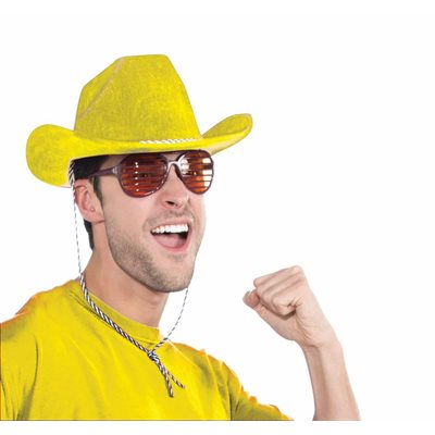 Deluxe Yellow Felt Cowboy Hat