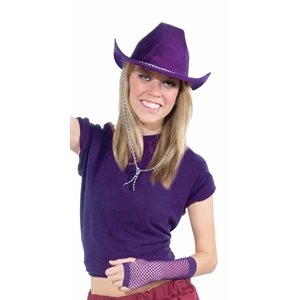 Deluxe Purple Felt Cowboy Hat