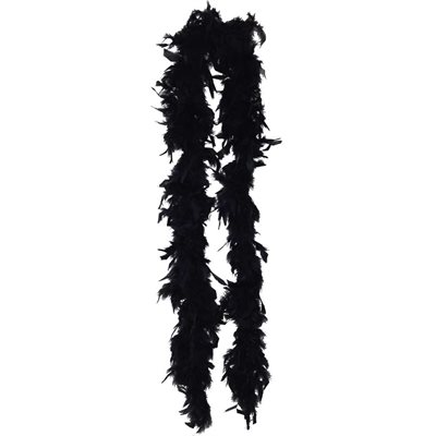 Black Feather Boa (6', 35 grams)