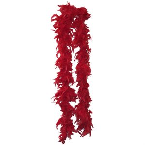 Red Feather Boa (6', 35 grams)