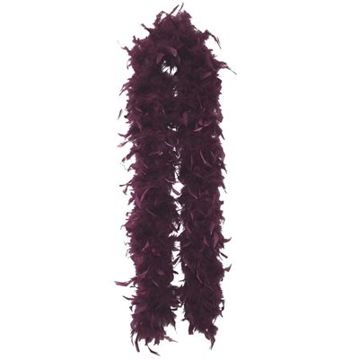 Maroon Feather Boa (6', 60 grams)