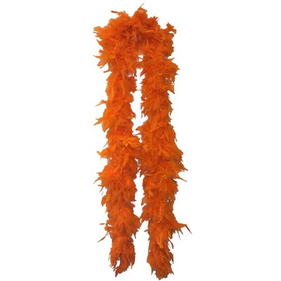 Orange Feather Boa (6', 60 grams)