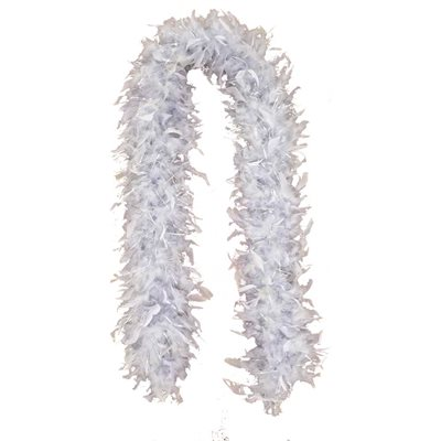 Silver Feather Boa (6', 60 Grams)