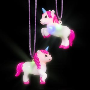 Flashing Unicorn Necklace