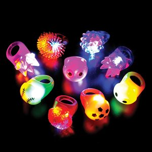 48 Light Up Ring Assortment