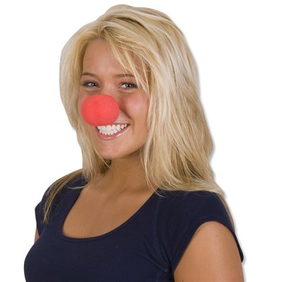 Nez de clown rouge mousse