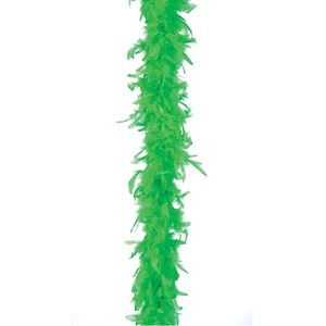 Green Feather Boa (6', 35 grams)