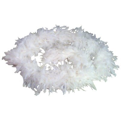 White Feather Boa (6', 150 grams)