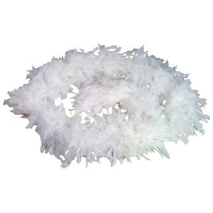 White Feather Boa (6', 60 grams)