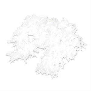 White Feather Boa with Tinsel (6', 60 grams)