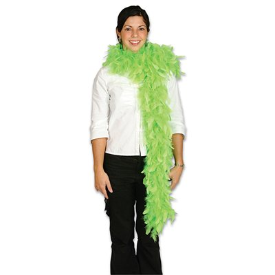 Neon Green Feather Boa (6', 60 grams)