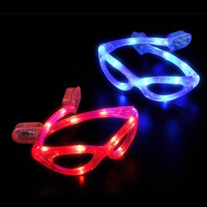 Red Light Up LED Glasses