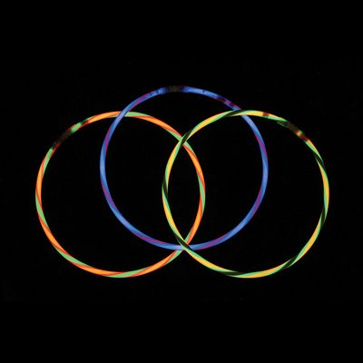 50 Assorted Swirl Glow Necklaces