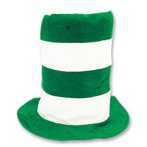 Green & White Stovepipe Hat