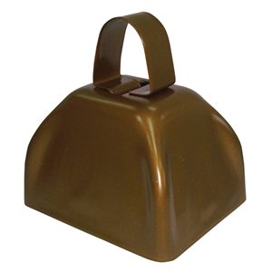 "3"" Gold Cowbell"