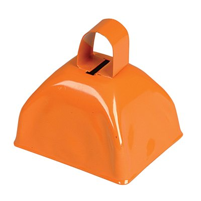 Clochette de vache orange 3""