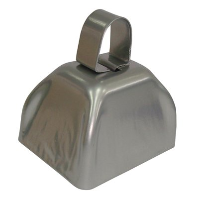 "3"" Silver Cowbell"