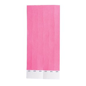 100 Hot Pink Tyvek Wristbands