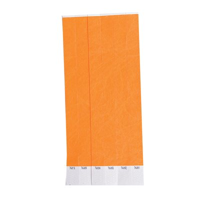 100 Orange Tyvek Wristbands