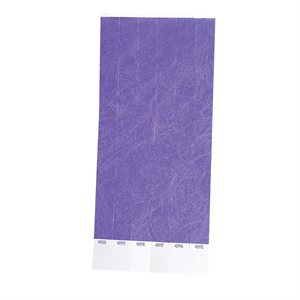 100 Purple Tyvek Wristbands