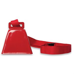Red Cowbell on Lanyard