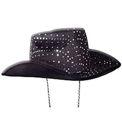 Black Felt Sequin Cowboy Hat