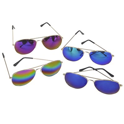 Rainbow Lens Aviator Glasses