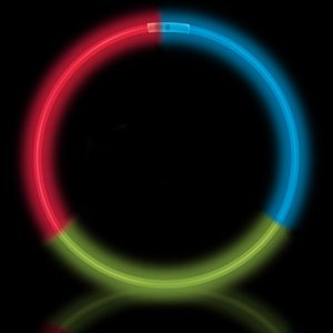 50 Red, Green & Blue Glow Necklaces