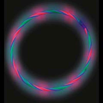 50 Swirl Glow Necklaces (Green, Red, Blue)