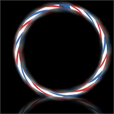 50 Swirl Glow necklaces (Red, White, Blue)