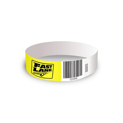Custom Printed Tyvek Solid Color ID Event Wristbands